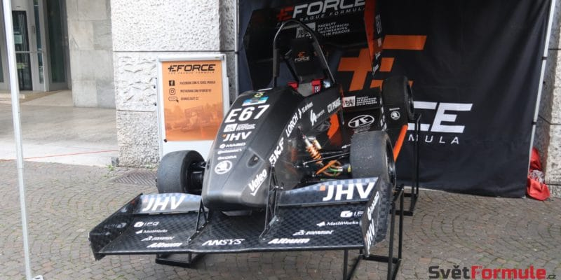 Česká elektrická formule se objevila v dějišti ePrix Římu