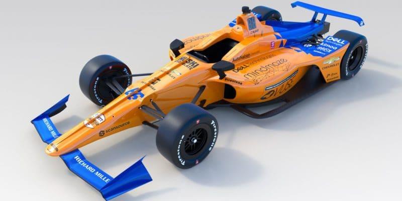McLaren odhalil zbarvení Alonsova vozu pro Indy 500