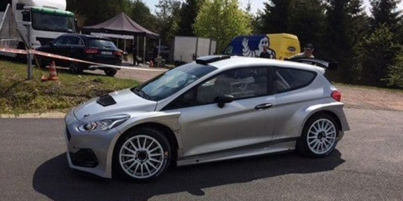 Bottas ve Francii testuje novou Fiestu R5 týmu M-Sport