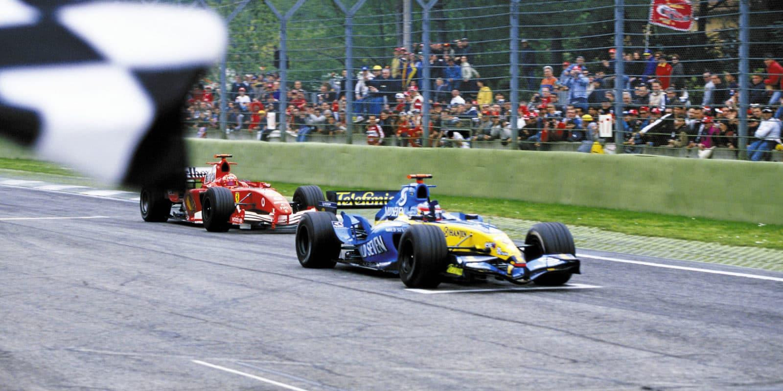 Alonso Schumacher Imola 2005