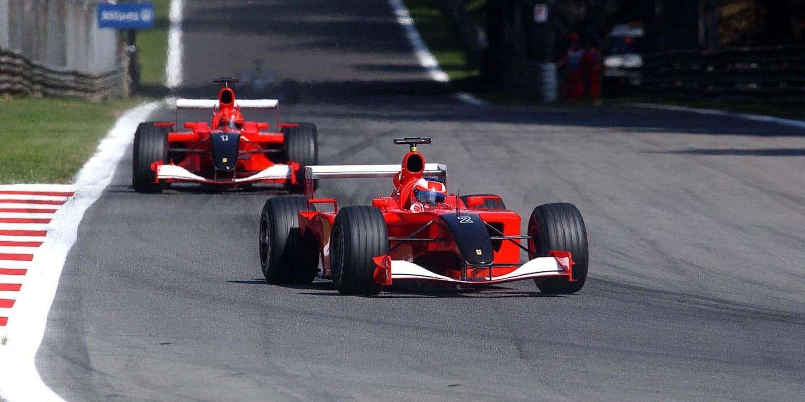 Barrichello Schumacher Monza 2001
