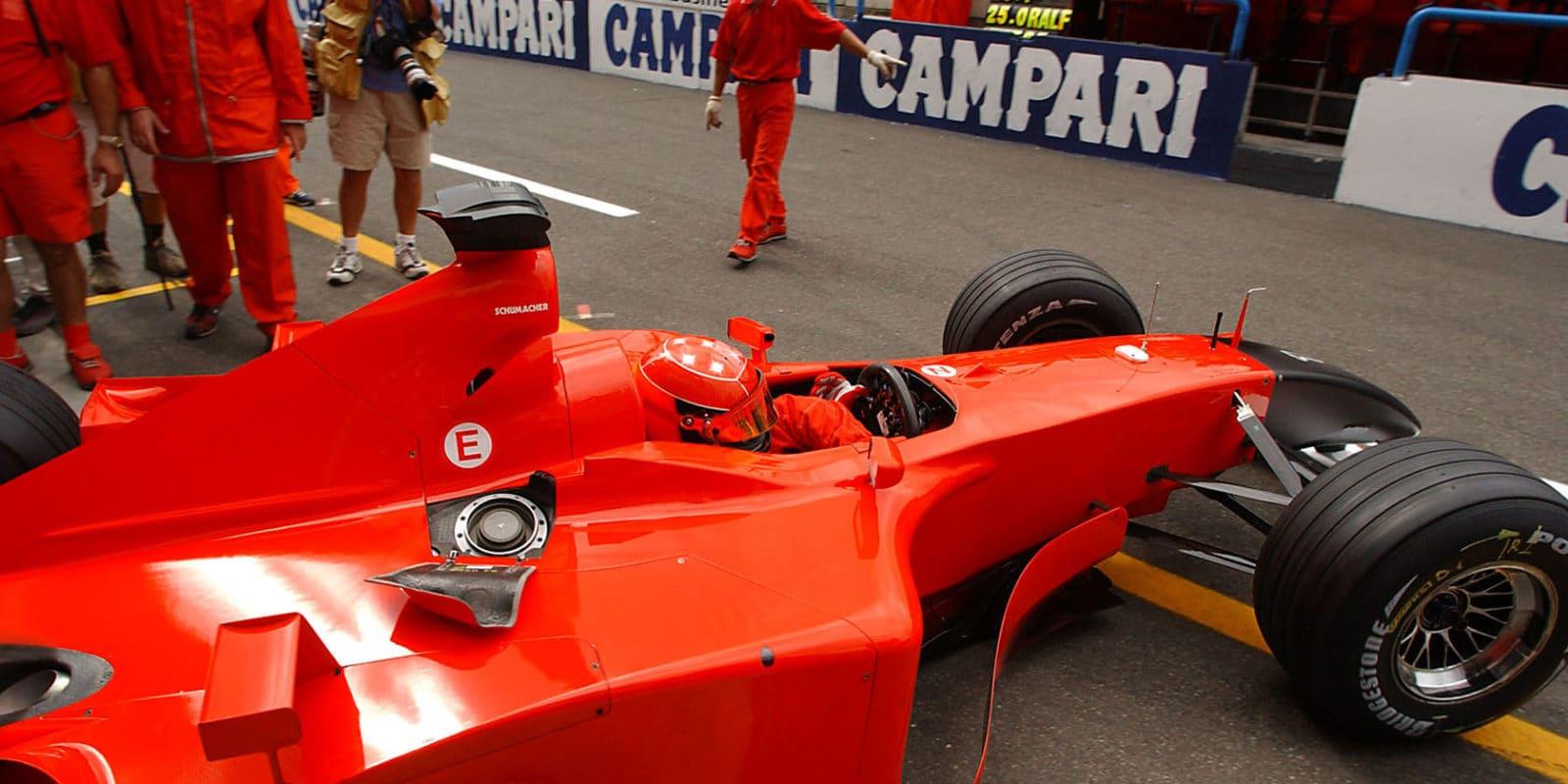Schumacher Monza 2001 pitlane