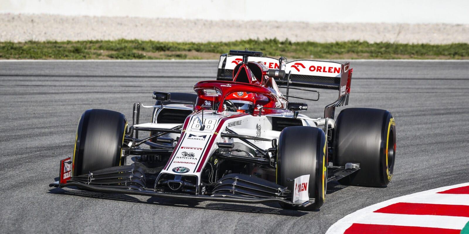 Druhou sérii testů otevřel nejrychleji Kubica