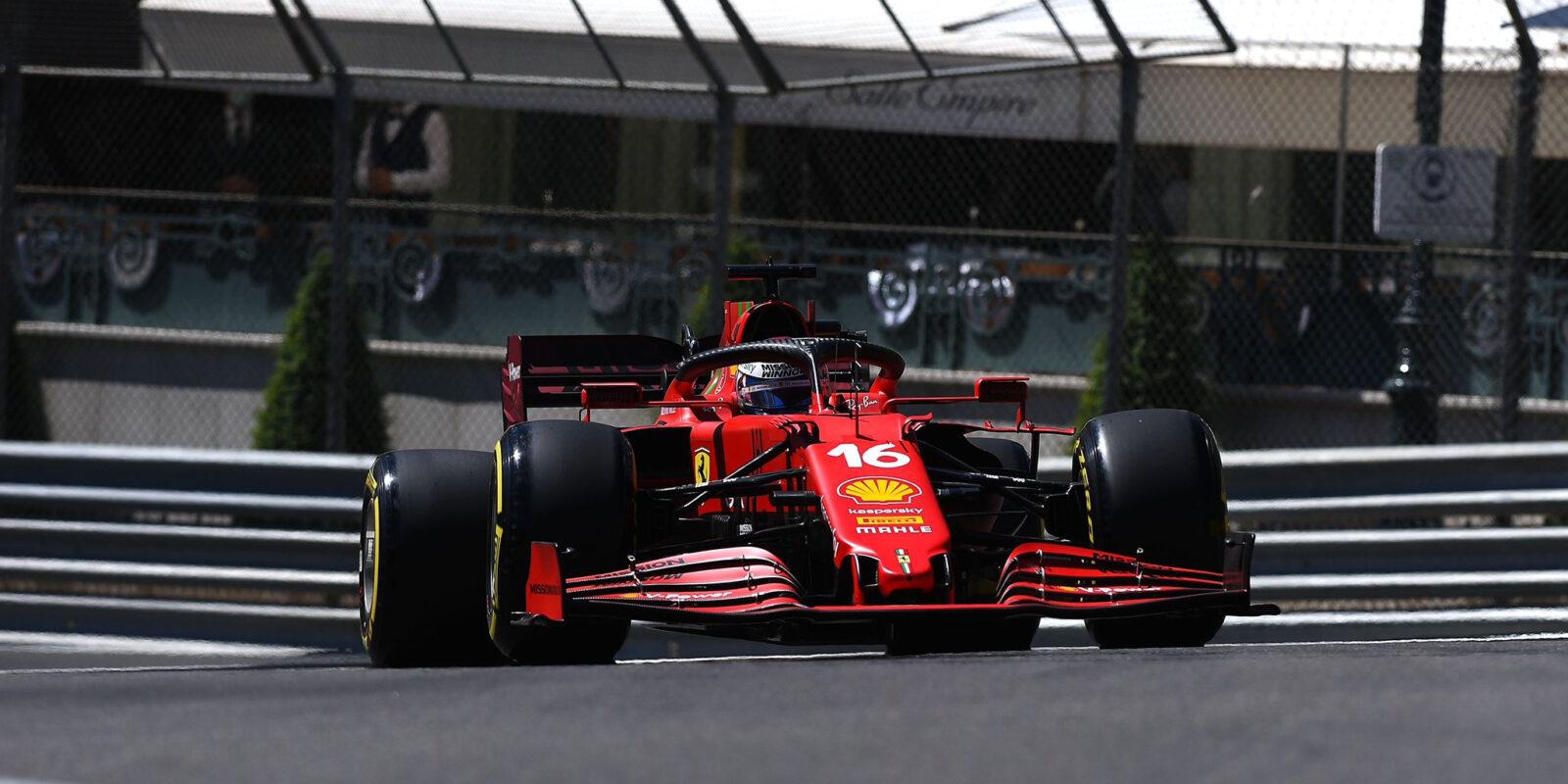 Druhý trénink Velké ceny Monaka pod taktovkou Ferrari