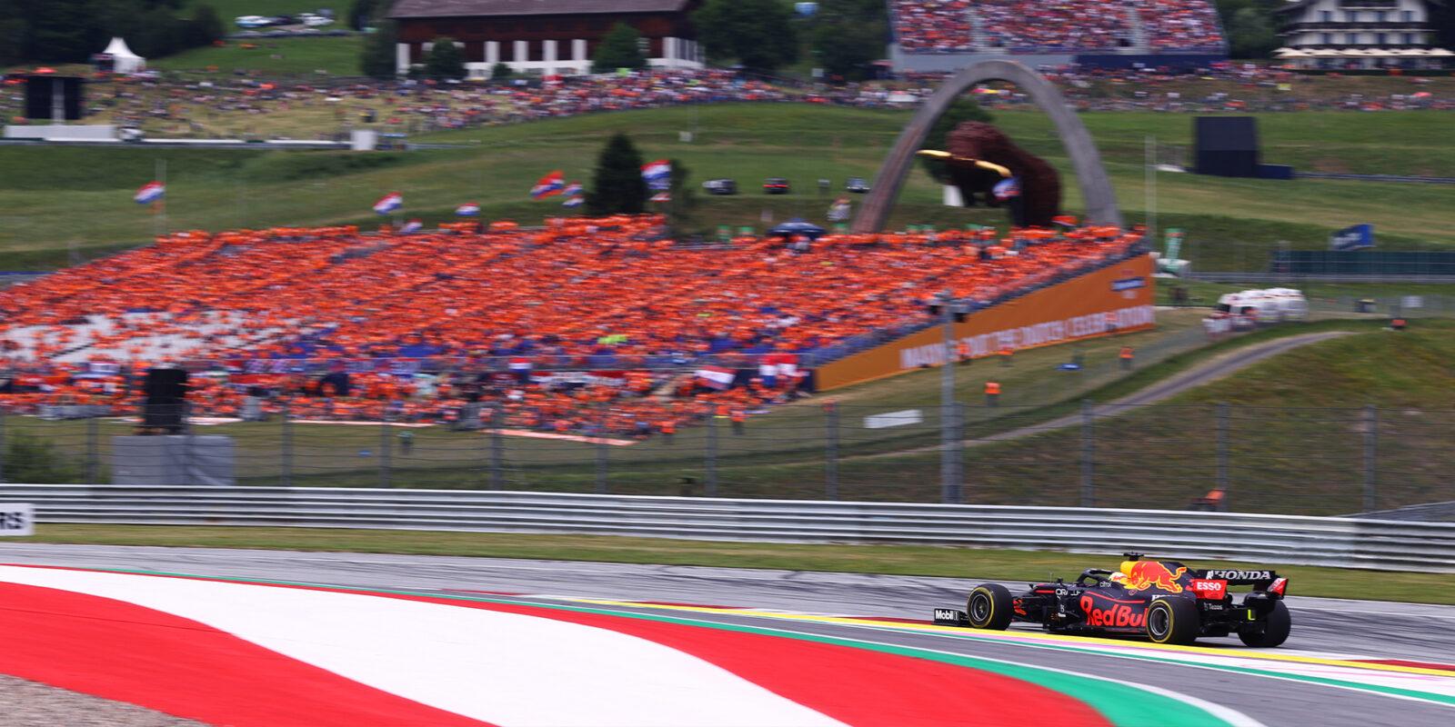 V Rakousku dominoval Verstappen, Hamilton až čtvrtý